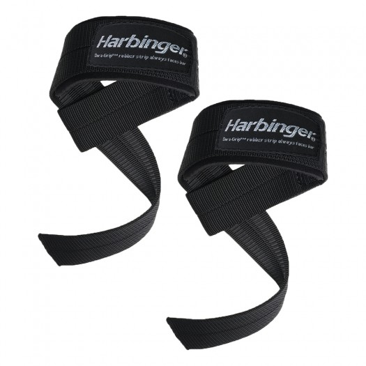 Harbinger Big Grip Padded Lifting Straps - Black