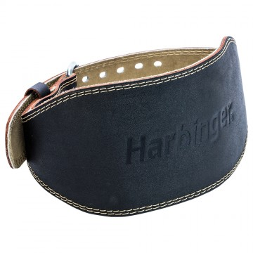 Harbinger 15cm Padded Leather Belt - Black