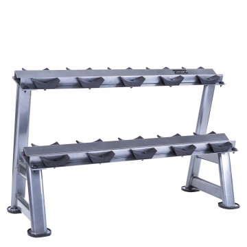 5pair, 2 tier dumbbell rack with saddles oval