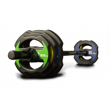 Jordan Ignite V2 Urethane Studio Barbell Set - Colour coded