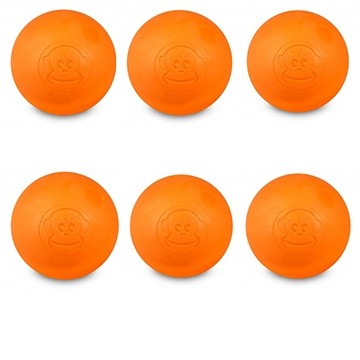 6er Pack Lacrosse Ball Orange