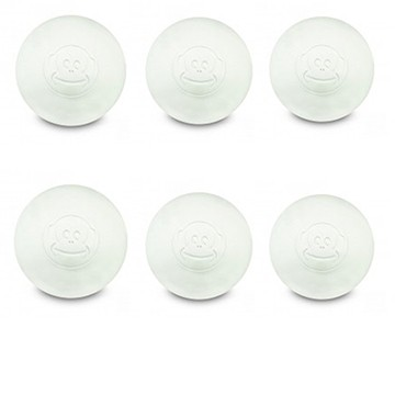 6er Pack Lacrosse Ball white