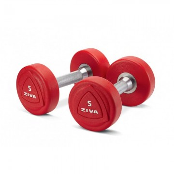 Ziva ZVO 1-10kg SET Solid Steel Urethane Dumbbell Set