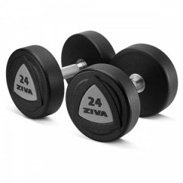40-50Kg Ziva ZVO Urethane High Gloss Dumbbell SET